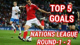 Top 5 UEFA NATIONS LEAGUE Goals - Match Day 1 - 2 - HD°