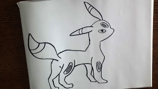 How to draw pokemon! Umbreon
