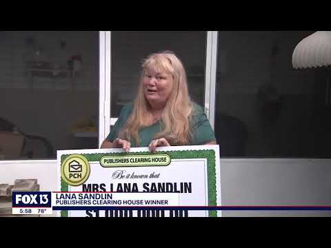 Everybody's Talking: Fox13 Covers Lana S. $1,000,000.00 Winning Moment With PCH!