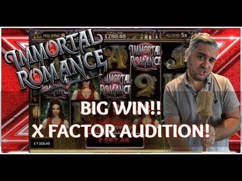 IMMORTAL ROMANCE BIG WIN - MEGA X FACTOR AUDITION! (Online Casino)