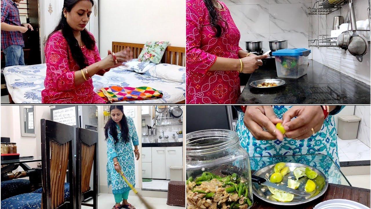 Navmi & Dashami Vlog - अदरक, मिर्च और नींबु का अचार बनाने का आसान तरीका
