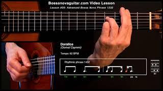 Doralice - Bossa Nova Guitar Lesson #20: Advanced Phrase 1232