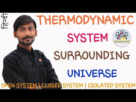 [HINDI] THERMODYNAMIC SYSTEM ~ SURROUNDING ~ UNIVERSE ~ TYPES OF SYSTEM ~ THERMODYNAMICS