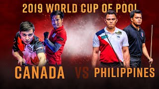 Canada vs Philippines | 2019 World Cup of Pool Quarter Final