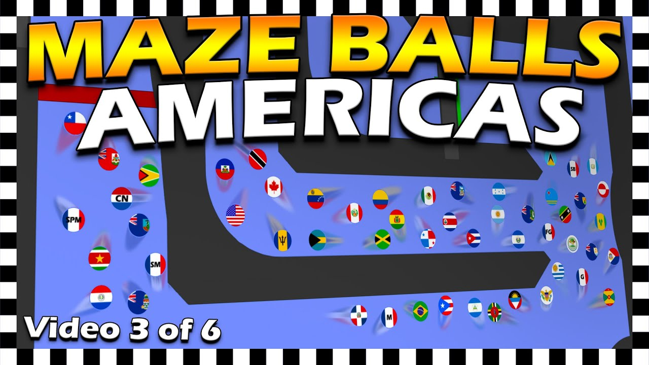 Country Maze Balls Americas - Marble Race