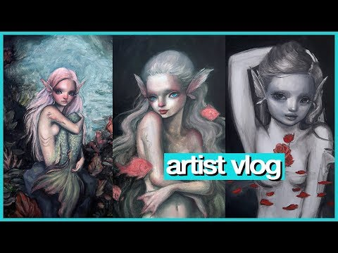 Preparing for my SOLO SHOW (mermaids!!) 💖 ARTIST VLOG 39