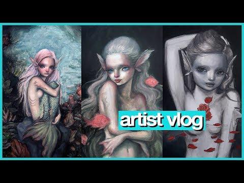 Preparing for my SOLO SHOW (mermaids!!) 💖 ARTIST VLOG 39