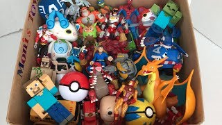 Box Full of Toys | Pokémon | Action Figures | Minecraft | Ben 10 | Cars | Toys for Kids