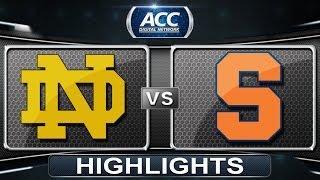 Notre Dame vs Syracuse | 2014 ACC Men
