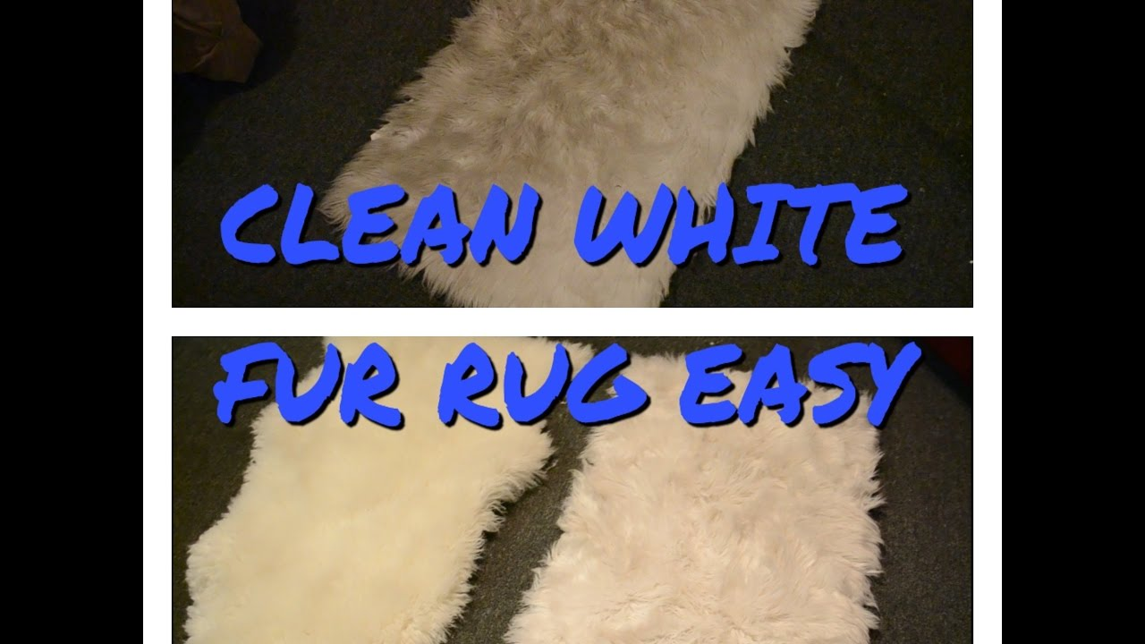 Clean White Faux Fur Rug Easy