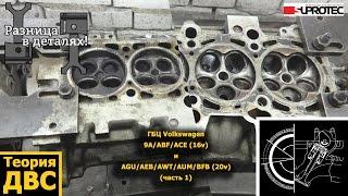 ГБЦ Volkswagen 9A (16v) и BFB (20v) часть 1 пропускная способность каналов
