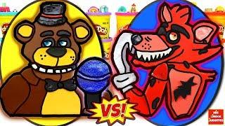 - Huevos Sorpresa Gigantes de Five Nights At Freddy s Freddy VS Foxy de Plastilina Play Doh en Espaol