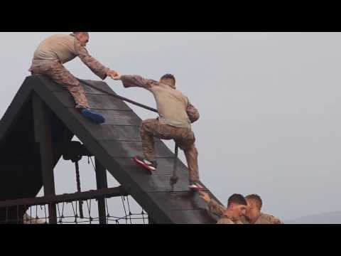 Marines get WET:  Water Obstacle Course in Djibouti Africa
