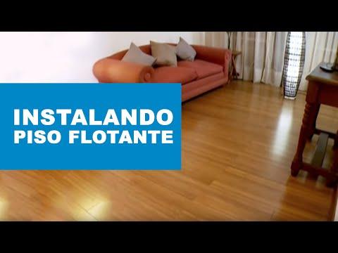 C mo instalar un piso flotante de madera s lida youtube - Como poner un suelo de madera ...