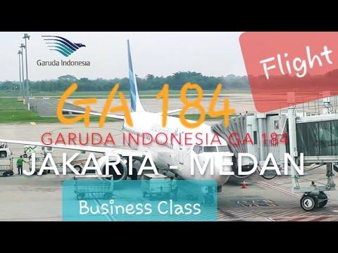 Garuda GA 184 Jakarta - Medan | Business Class Flight Report