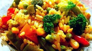 постный рис  с овощами.