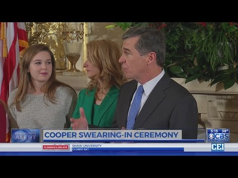 Roy Cooper, Council of State gather for swearings-in