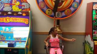 Relaxing Chuck E Cheese Ride | The Ciera and Olivia Show | July 5, 2014