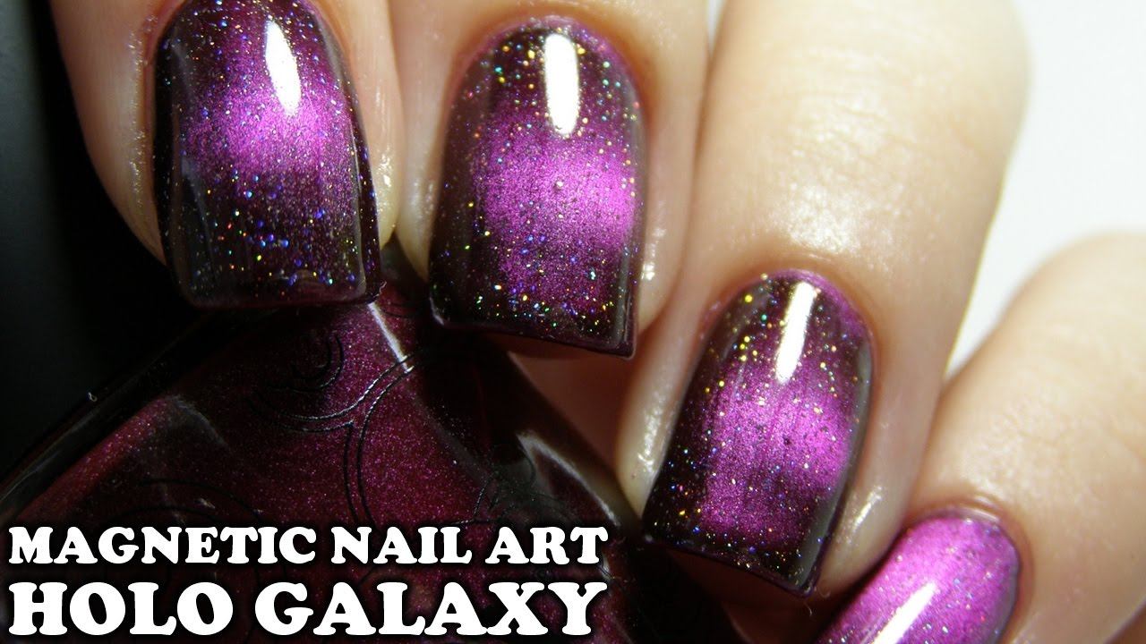 Magnetic Holographic Galaxy Nail Art Tutorial (with Masura Magnetic ...