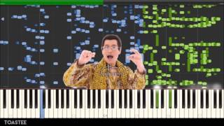 Repeat youtube video (PPAP) Pen Pineapple Apple Pen on the Piano? (MIDI/Synthesia)