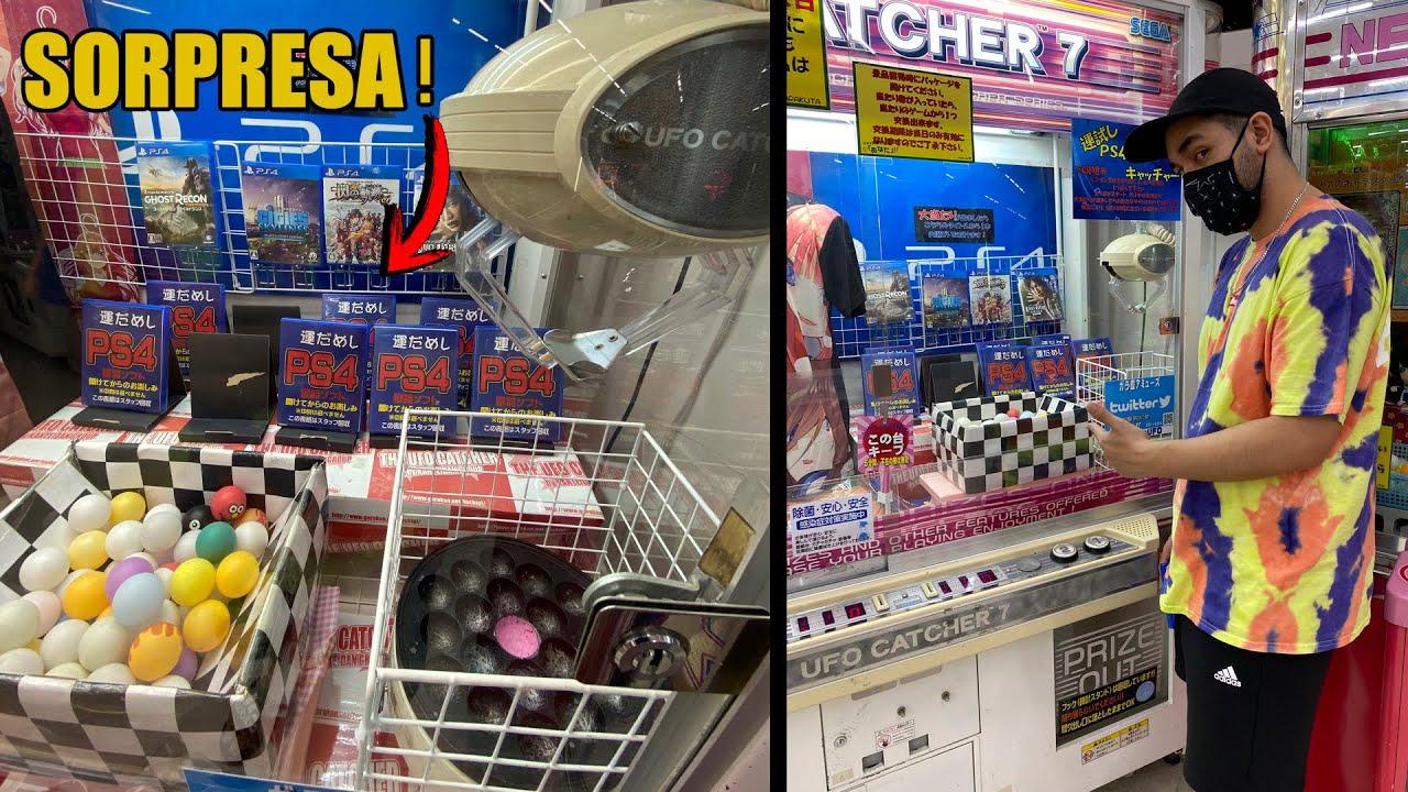 RETO MAQUINA UFO (GARRA) DE JUEGOS PARA PS4 EN JAPÓN | PLAYSTATION 4 | UFO CATCHER | VIDEOJUEGOS