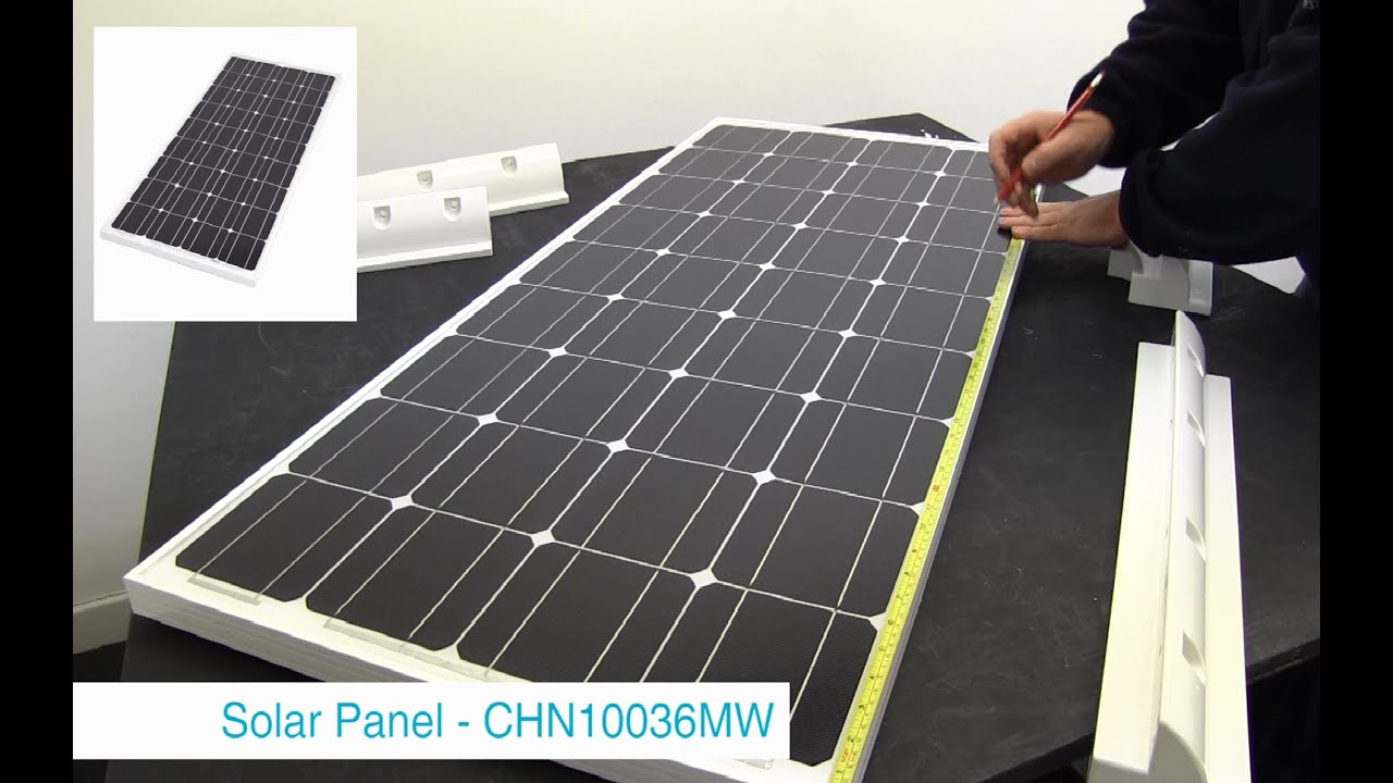How To Mount A Caravan Solar Panel Youtube
