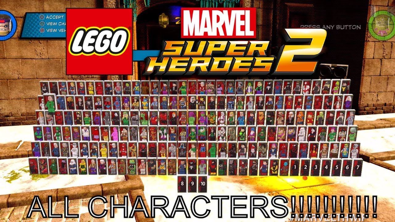lego marvel superheroes 2 all 200 characters youtube