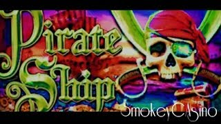 PIRATE SHIP Slot Bonus BIG WIN Save - WMS