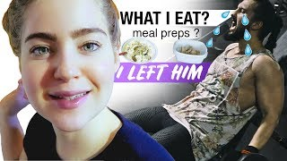 SHE LEFT ME ! | WHAT I EAT (Meal Prep?) + INSANE chest, shoulders, arms Workout !