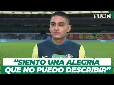 ¡EL HOMBRE DEL MOMENTO! Santiago Naveda, feliz con su gol y la victoria del América I TUDN