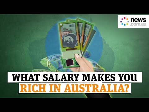 How much you need to earn to be considered rich in Australia