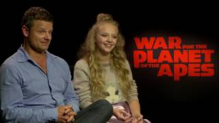 War For The Planet of the Apes: Steve Zahn & Amiah Miller Official Movie Interview