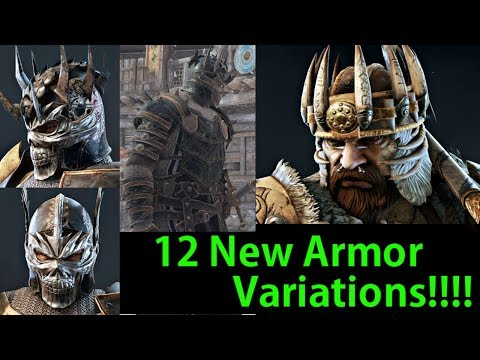 For Honor  - 12 NEW Armor Set Variations!! That Lawbringer Tho!!!!  