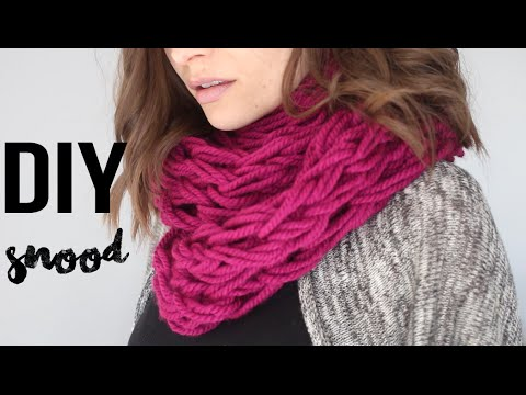 diy mode facile echarpe tube snood tricoter avec les bras debutant arm knitting infinity. Black Bedroom Furniture Sets. Home Design Ideas