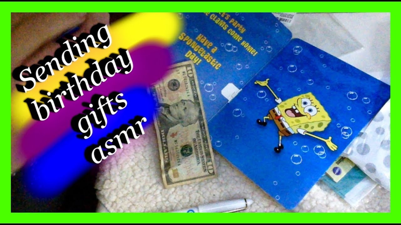 Sending Birthday gifts Relaxing gentle whispering u0026 gum chewing Close to Mic  sc 1 st  YouTube & Sending Birthday gifts Relaxing gentle whispering u0026 gum chewing ...