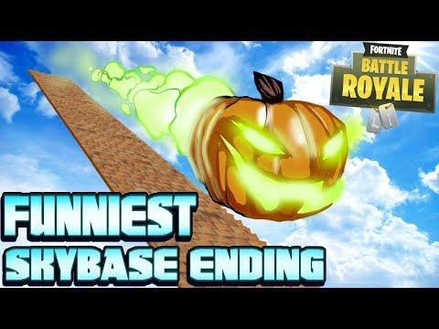 Best Skybase Ending EVER! (Fortnite Battle Royale)