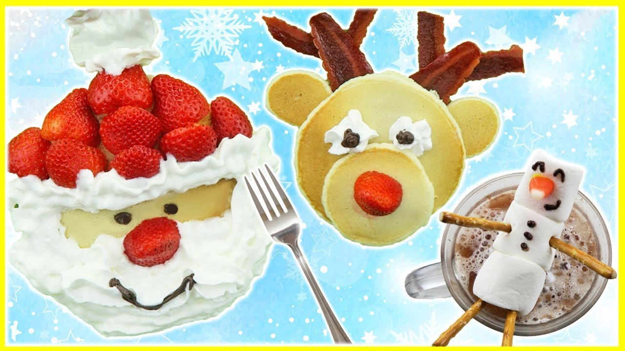 Best Christmas Breakfast Santa Claus And Reindeer Pancake Art Cute Recipes Kids Cooking And Crafts