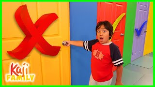 Don't Choose the Wrong Door Challenge on Ryan's Mystery Playdate!
