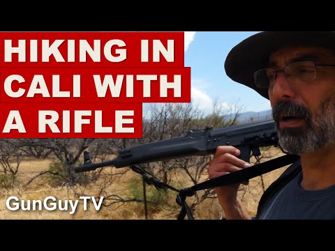 How to carry a gun while hiking in California