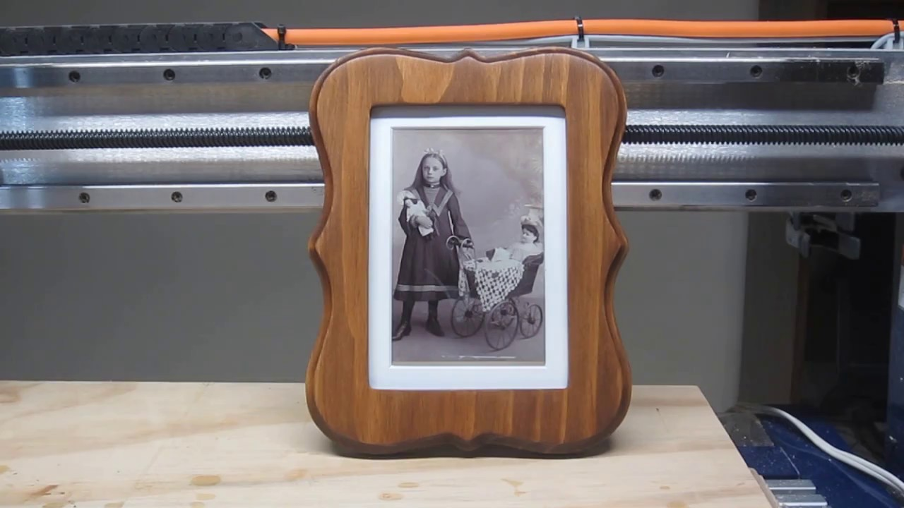 CNC Router Projects: Start to Finish- One-Piece 5x7 Photo Frame ...