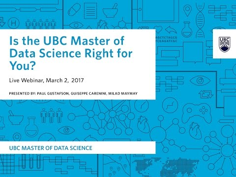 Webinar: Is the UBC Master of Data Science Right For You?