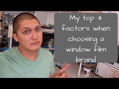 My top 4 factors when choosing a film brand.