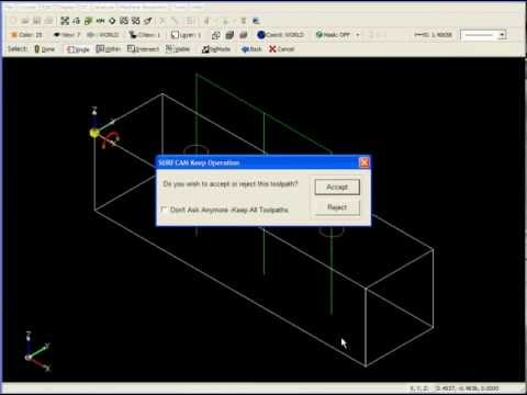 SURFCAM Tutorial - 2-Axis: Basic Drilling Operations - Part 1