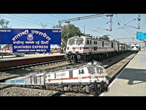 12046 CDG NDLS SHATABADI EXP WITH VARUN GZB WAP7.[ INDIAN RAILWAYS ]