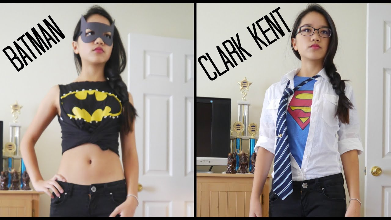 sc 1 st  YouTube & Last Minute Halloween Costumes Batman and Clark Kent - YouTube