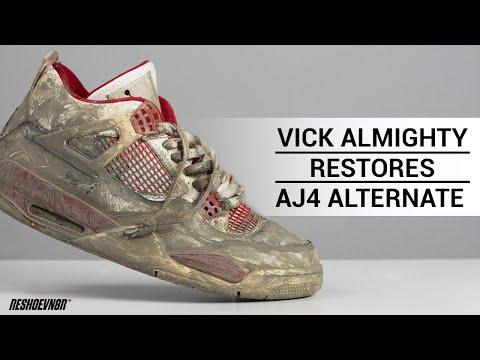Vick Almighty RESTORES DISGUSTING Air Jordan 4 Alternate 89 w/ Reshoevn8r PART 1