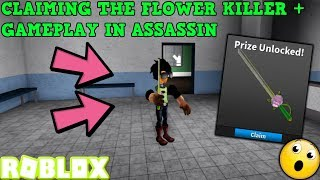 RECLAMANDO EL ASESINO DE FLORES + JUEGO! (ROBLOX ASSASSIN APRIL COMP 1000 POINT PRIZE)