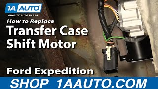 How To Install Replace 4WD 4x4 Shift Motor Ford Expedition Lincoln Navigator 97-01 1AAuto.com