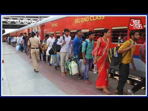 Long Queues In Ahmedabad Railway Station As North Indian Exo