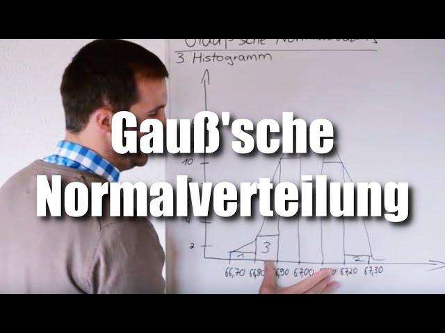 Statistik für Zerspanungsmechaniker Gaußsche Normalverteilung Anleitung mit Beispiel